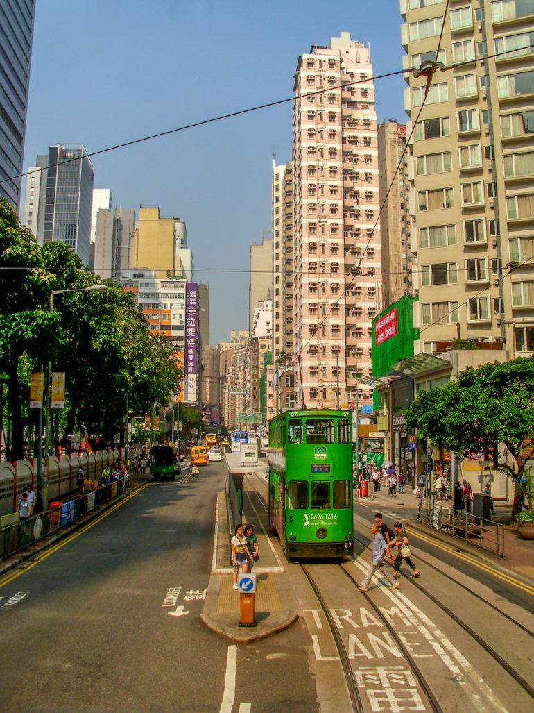 Travellers Insight Reiseblog historischen Straßenbahn Hongkong