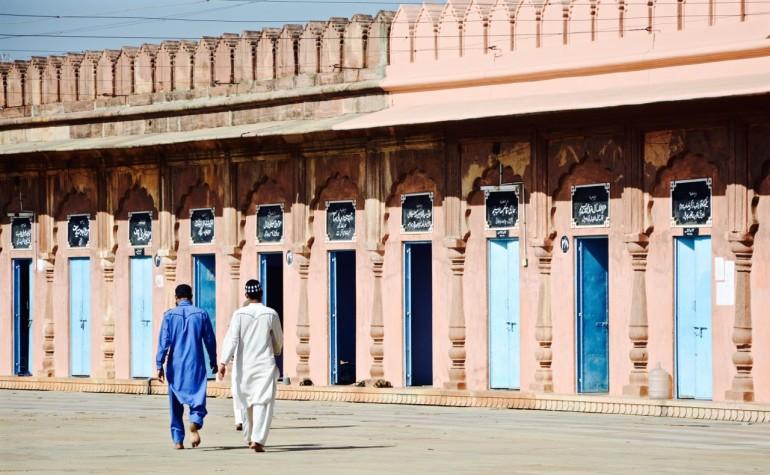 Innenhof einer Moschee mit angeschlossener Koranschule