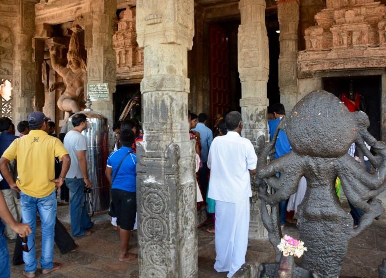 Das Allerheiligste eines Hindu Tempels ist den Hindus vorbehalten.