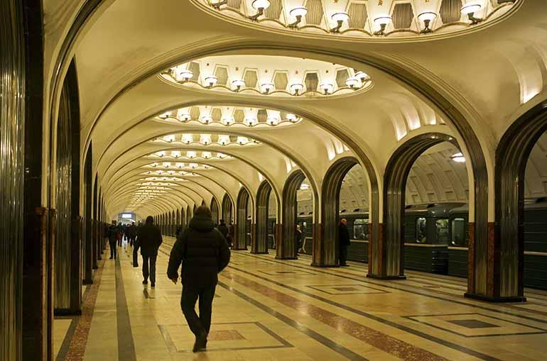Moskauer Metro Majakowskaja