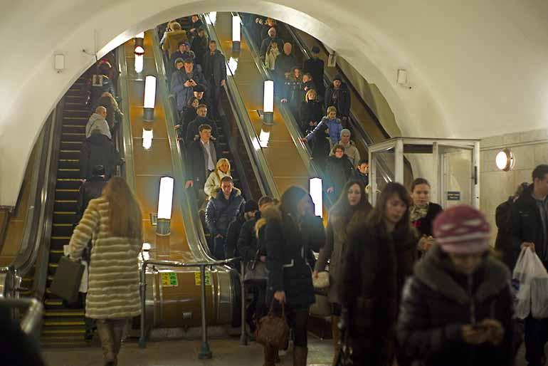 Moskauer Metro Rolltreppe