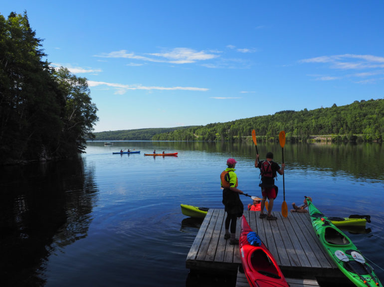 Travellers Insight Reiseblog Cape Breton Nova Scotia North River Kayak