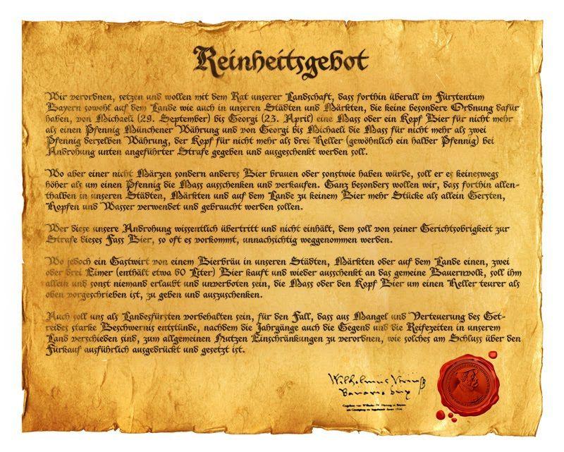 Travellers Insight Reiseblog Reinheitsgebot Urkunde