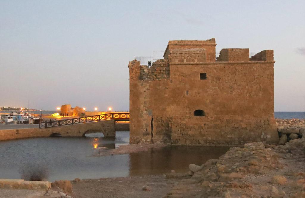 Mittelalterliche Burg und byzantinische Festung in Paphos auf Zypern.
