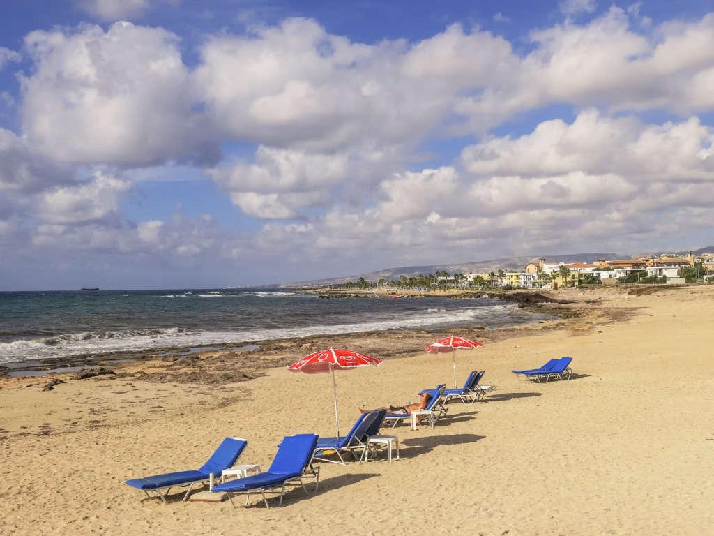 Der Lighthouse Beach ist ein Sandstrand in Kato Paphos auf Zypern.