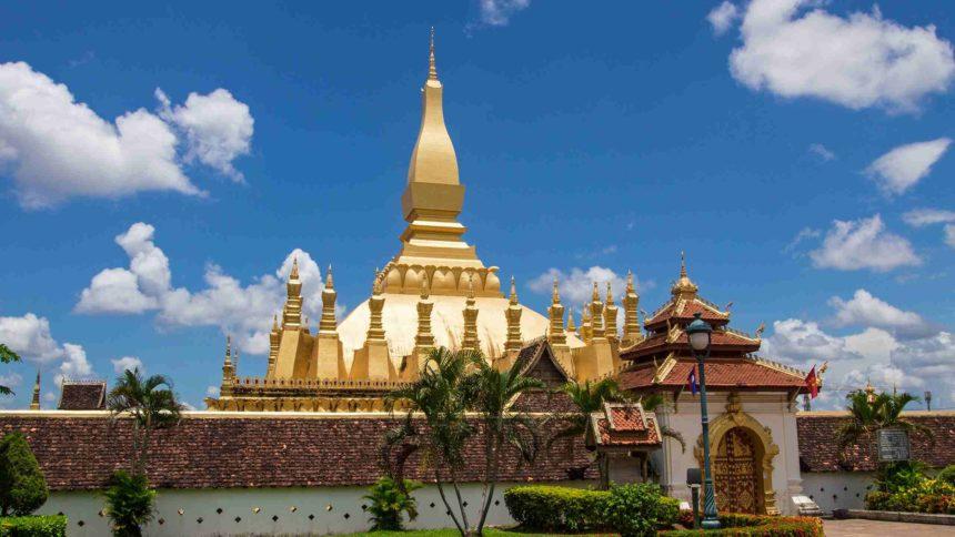 Laos Sehenswürdigkeiten Stupa Pha That Luang