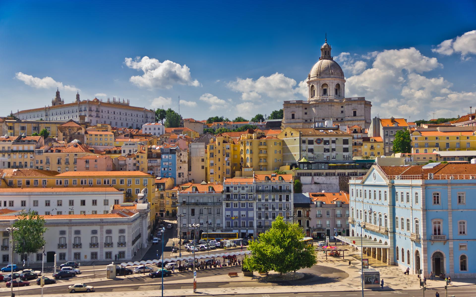 Blick auf die Stadt Lissabon.
