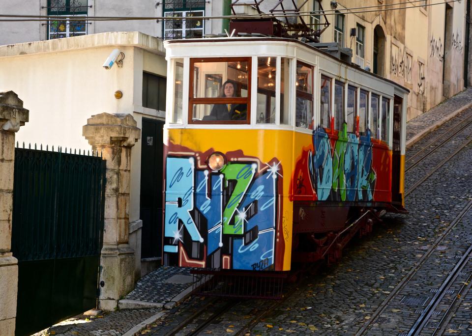 Elevador in Lissabon