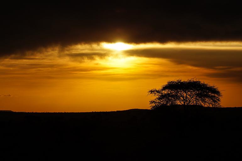 Tansania Safari Travellers Insight Reiseblog Sonnenuntergang Serengeti