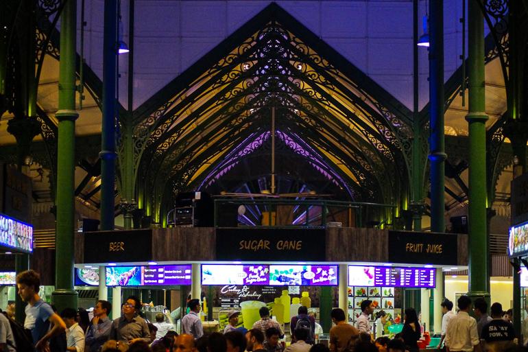 Travellers Insight Reiseblog Singapur Stadtviertel Lau Pa Sat