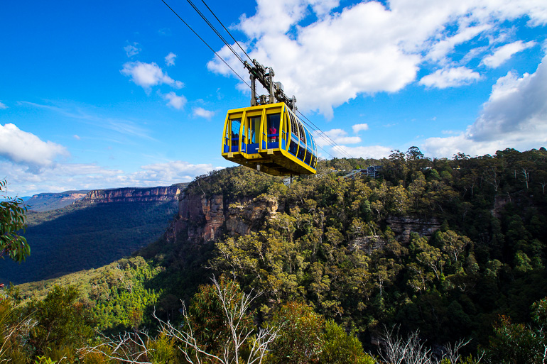Travellers Insight Reiseblog Blue Mountains Scenic World Skyway