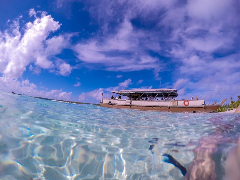 Travellers Insight Reiseblog Cook Inseln Aitutaki Boot