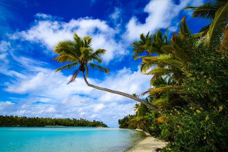 Travellers Insight Reiseblog Cook Inseln Aitutaki One Foot Islands Palmen