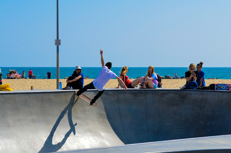 Travellers Insight Reiseblog Santa Monica Venice Beach Skater