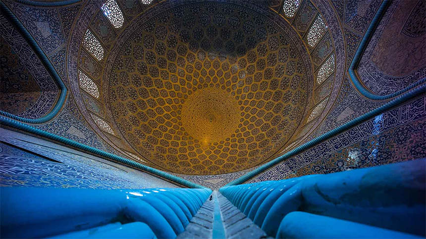 Travellers Insight Reiseblog Iran Eisenbahn Isfahan Moschee