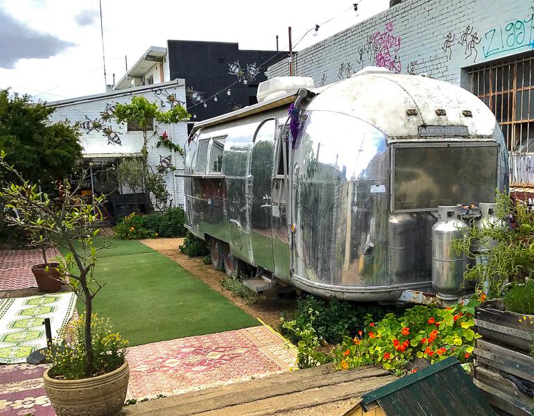 Victoria, Australien: Camper mit Café in Melbourne