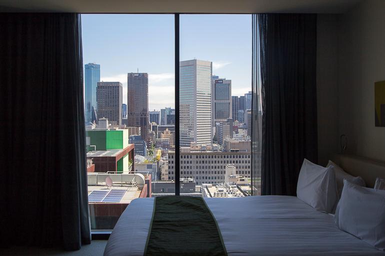 Victoria, Australien: Blick aus Hotel in Melbourne