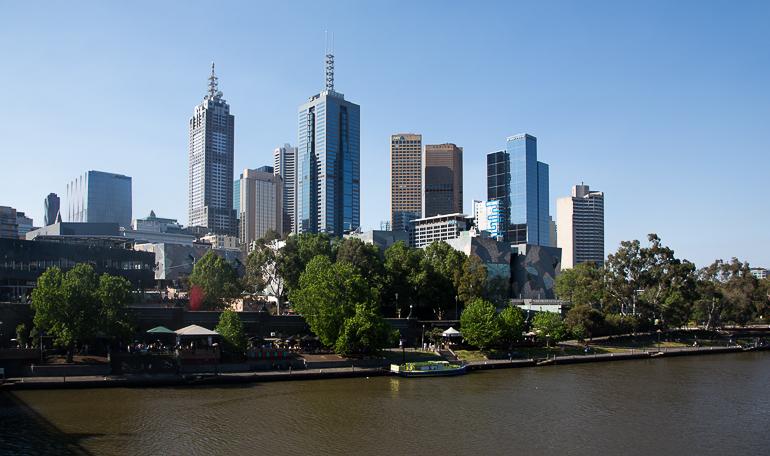 Victoria, Australien: Blick auf die Skyline von Melbourne