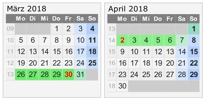 Travellers Insight Reiseblog Urlaub 2018 Kalender März April