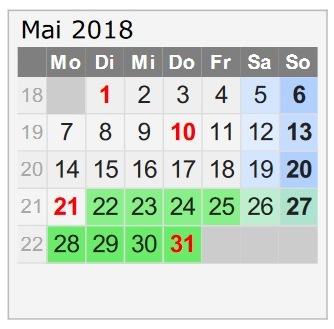 Travellers Insight Reiseblog Urlaub 2018 Kalender Mai
