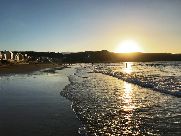 Travellers Insight Reiseblog Las Palmas Sonnenuntergang