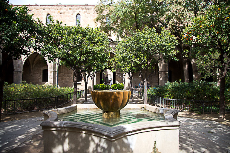 Travellers Insight Reiseblog Tipps für Barcelona Altstadt Brunnen