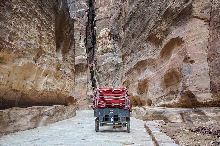 Siq Canyon, Petra in Jordanien