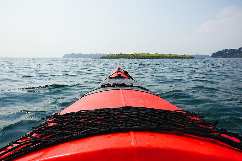 Kajaktour im Golf von Morbihan mit seinen an die 60 kleinen Inseln.