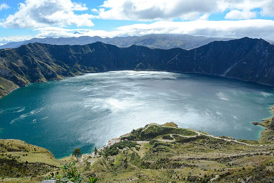 Gilt als einer der schönsten Flecken Ecuadors: der Kratersee des Vulkans Quilotoa.