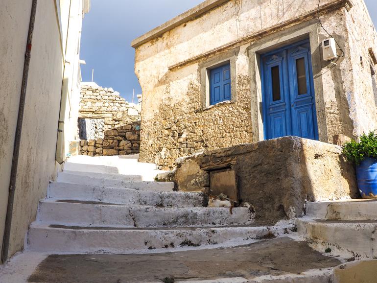Häufig sieht man hauptsächlich Katzen in den Gassen der karpiothischen Dörfer.