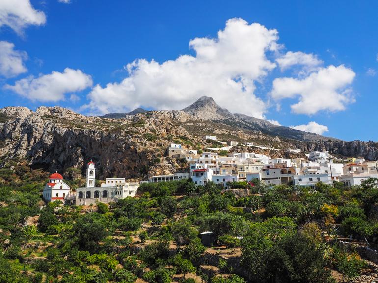 Messochóri zählt zu den am wenigsten touristischen Zielen auf Karpathos.