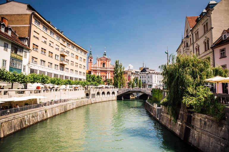 Ljubljana in Slowenien