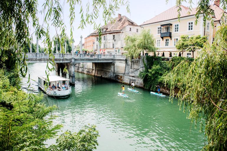 SUP in Ljubljana