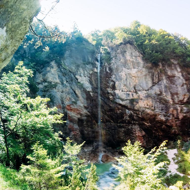 Soča-Tal: Wasserfall
