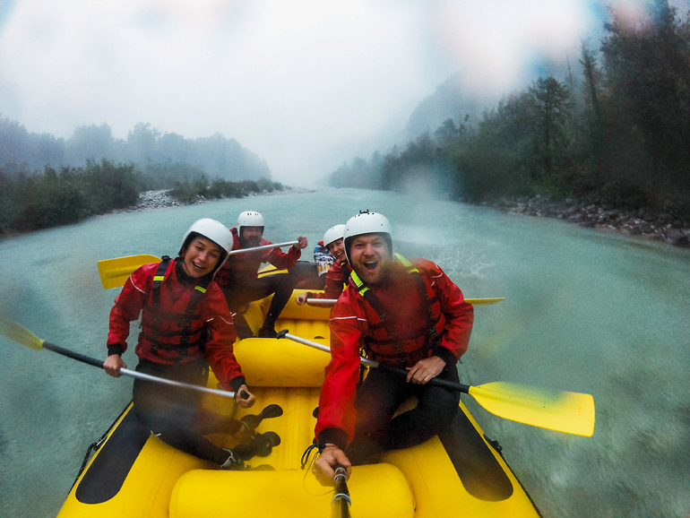 Slowenien-Rundreise: Rafting