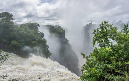 Sambesi River an den Victoria-Wasserfällen