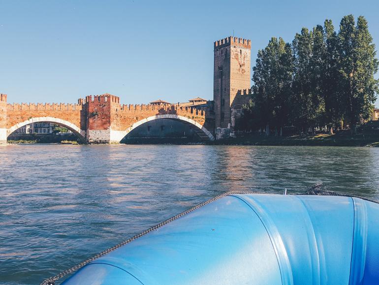 Rafting auf der Etsch in Verona