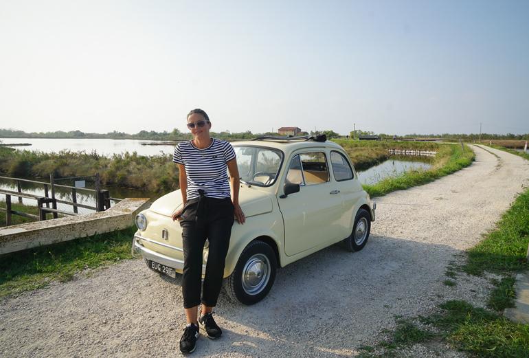 Venedig: Lio Piccolo im Fiat Cinquecento Oldtimer