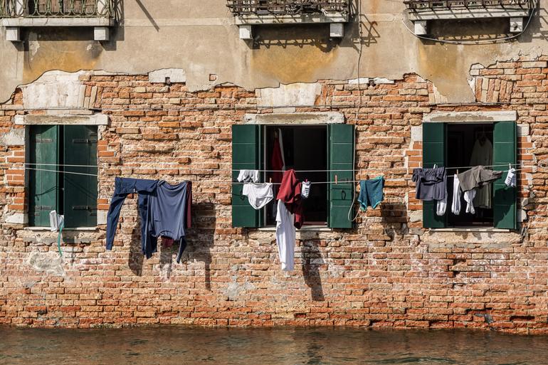 Venedig: Hängende Wäsche