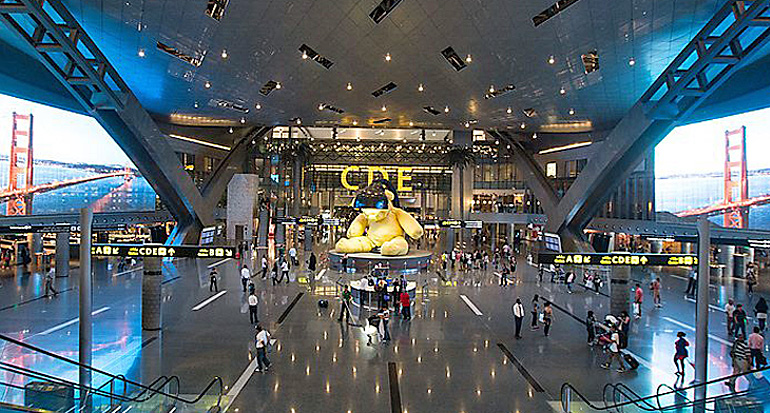 Teddybär Doha Flughafen