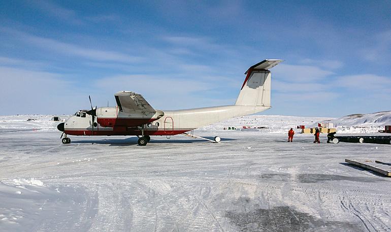 Flughafen in der Antarktis