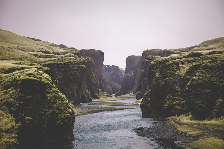 Island: Schlucht