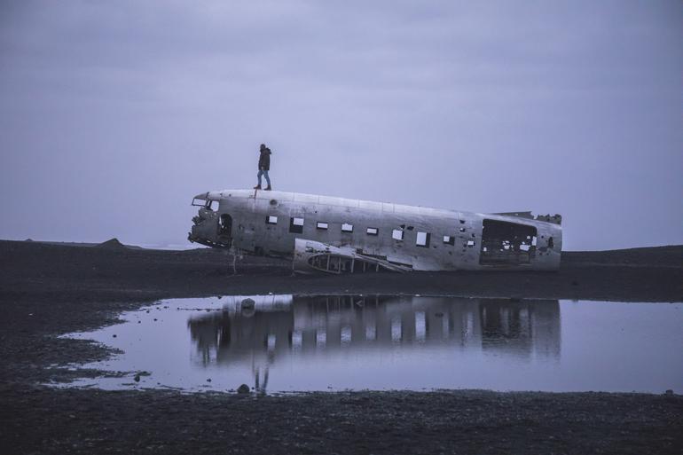 Island: Flugzeugwrack