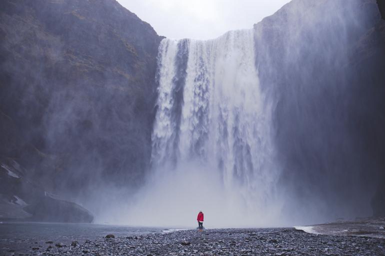 Island: Wasserfall