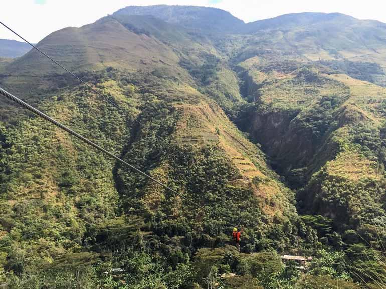 Zipline auf dem Jungle Trail zu Machu Picchu