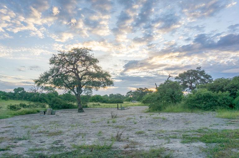 Savuti Campsite Gelände im Nationalpark