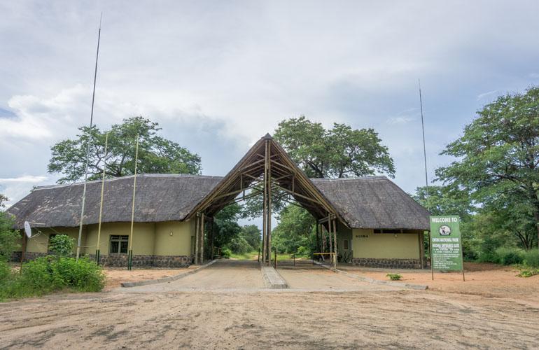 Das Eingangsgebäude des Nationalparks