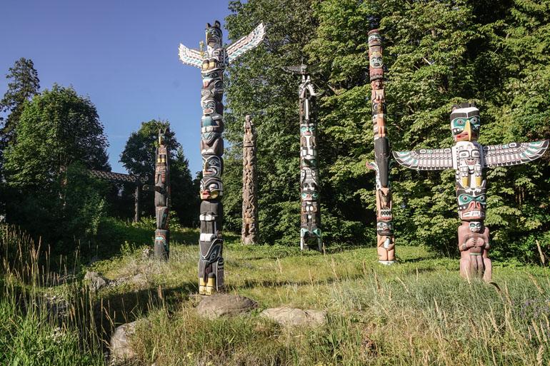 Vancouver: Totempfähle im Stanley Park