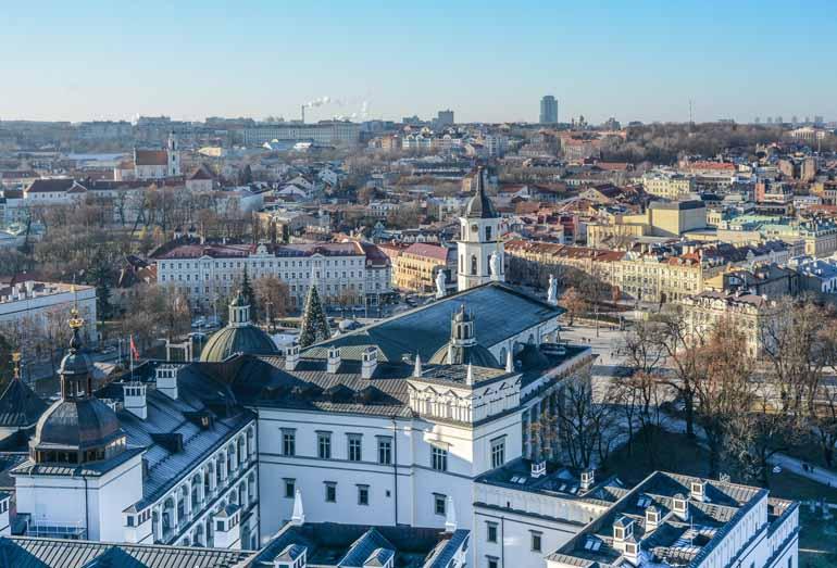 Vogelperspektive auf Vilnius.