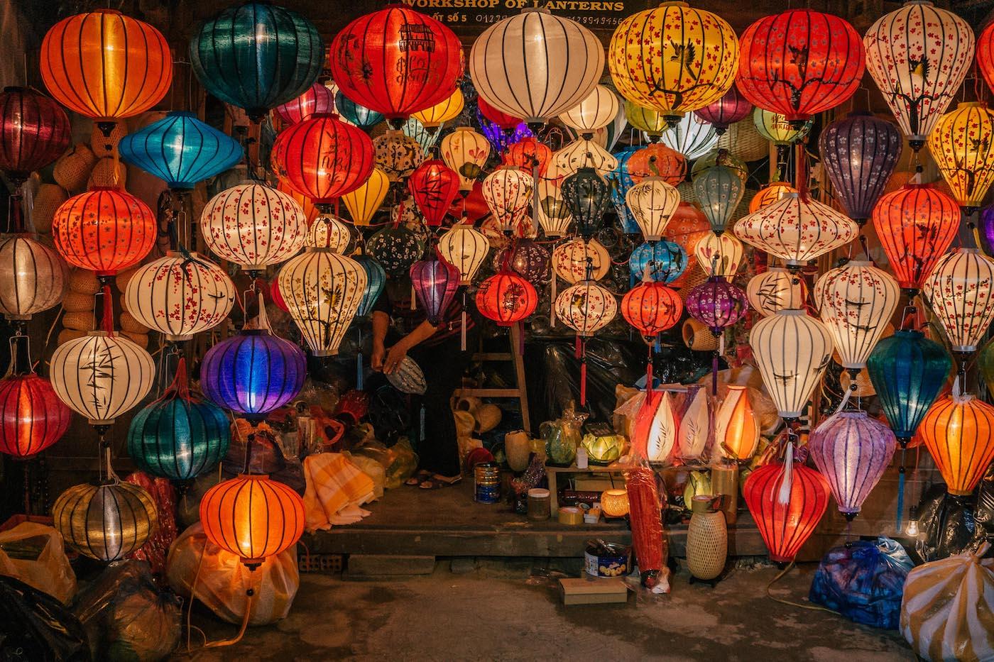Hoi An, Vietnam: Lampions